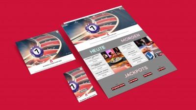 GRAND CASINO BADEN Screendesign, Onlineshop und Pokershop